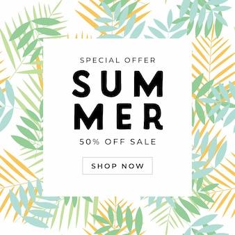 Modèle de bannière de vente spéciale d'été