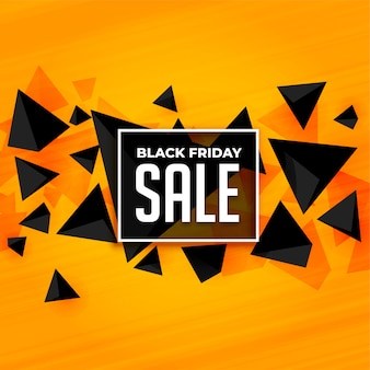Modèle de bannière de vente de style abstrait noir vendredi