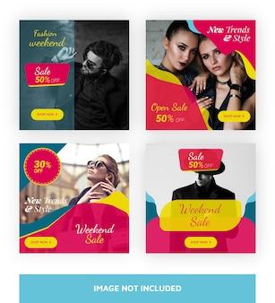 Modèle de bannière de vente super pour les médias sociaux