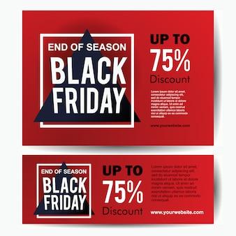 Modèle de bannière de vente vendredi noir élégant avec cadre