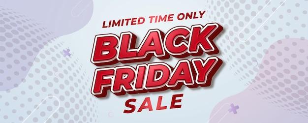 Modèle de bannière de vente vendredi noir élégant