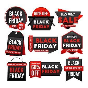 Modèle de bannière de vente vendredi noir géométrique