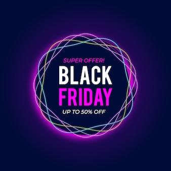 Modèle de bannière de vente vendredi noir moderne