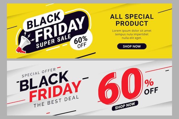 Modèle de bannière de vente vendredi noir pour la promotion des entreprises