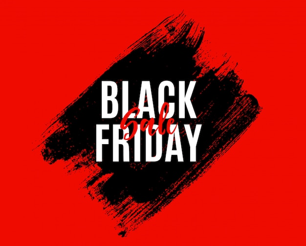 Modèle de bannière de vente vendredi noir.