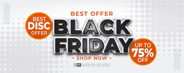 Modèle de bannière verticale de vente vendredi noir