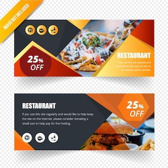 Modèle de bannière web abstraite