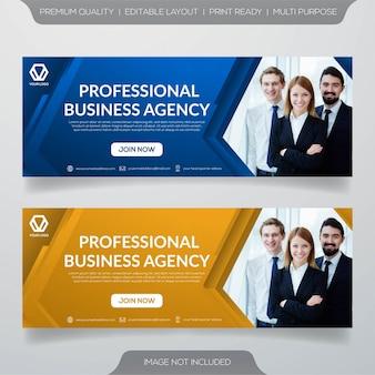 Modèle de bannière web d'affaires