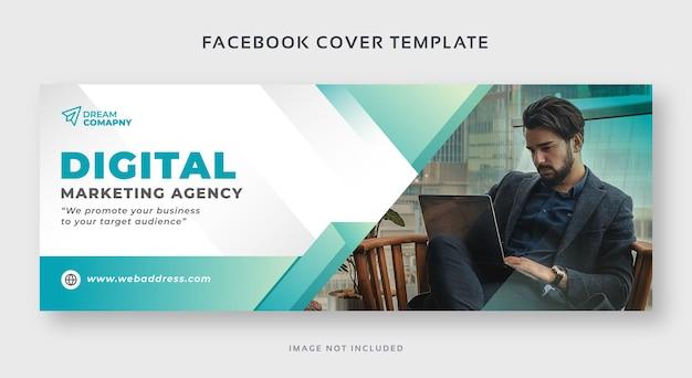 Modèle de bannière web de couverture facebook marketing numérique