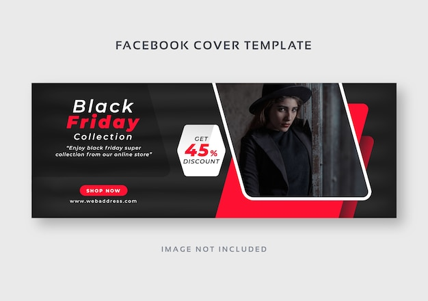 Modèle de bannière web de couverture facebook vendredi noir