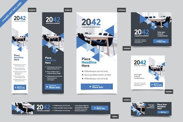 Modèle de bannière web d'entreprise en plusieurs tailles