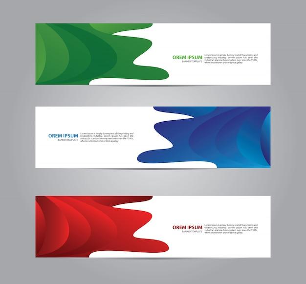 Modèle de bannière web géométrique moderne et abstraite.
