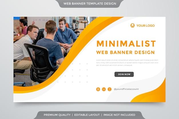 Modèle de bannière web minimaliste