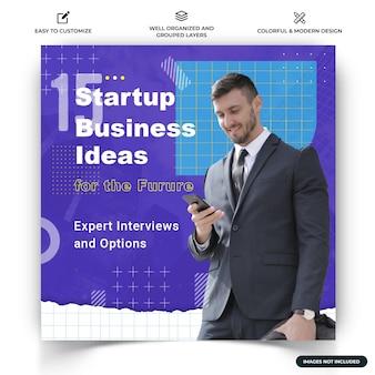 Modèle de bannière web de publication d'entreprise instagram