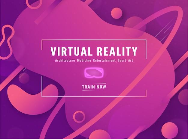 Modèle de bannière web de réalité virtuelle