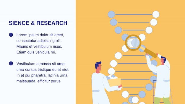 Modèle de bannière web science et recherche