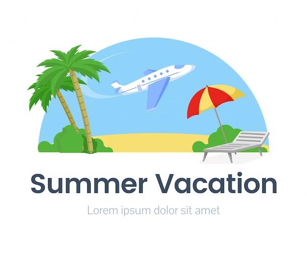 Modèle de bannière web de vacances d'été
