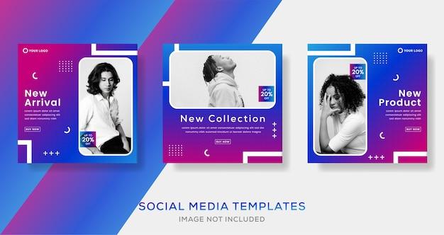 Modèle de bannières abstraites pour publication sur les médias sociaux.