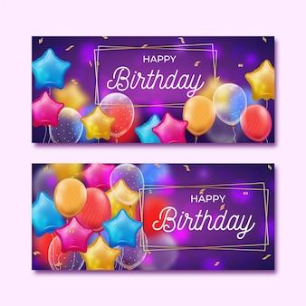 Modèle de bannières d'anniversaire