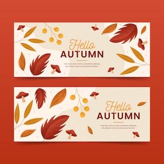 Modèle de bannières d'automne