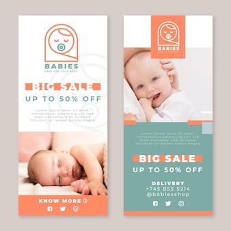 Modèle de bannières de bébé