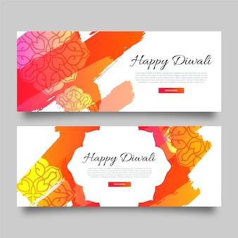 Modèle de bannières dégradé diwali