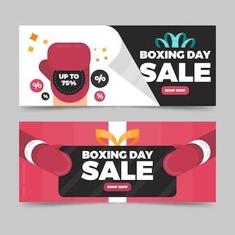 Modèle de bannières design design boxing day sale