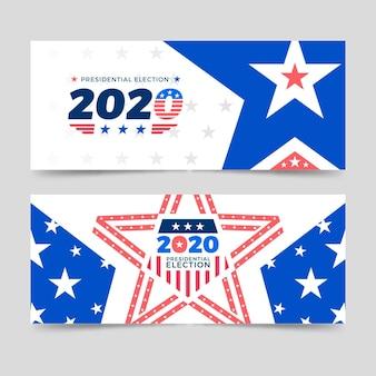 Modèle de bannières de l'élection présidentielle américaine 2020