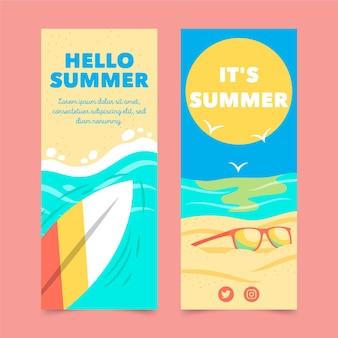 Modèle de bannières d'été