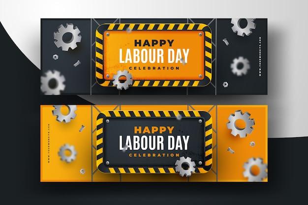 Modèle de bannières de la fête du travail