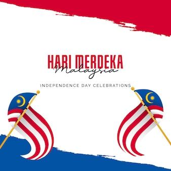 Modèle de bannières de la fête de l'indépendance de la malaisie