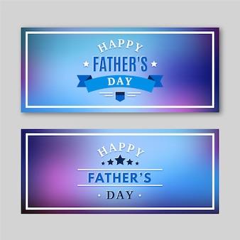 Modèle de bannières de fête des pères floue