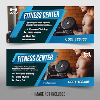 Modèle de bannières de gym moderne
