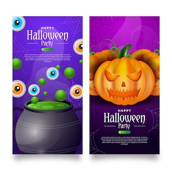 Modèle de bannières halloween réaliste