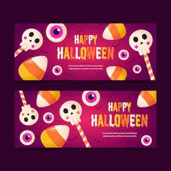 Modèle de bannières halloween