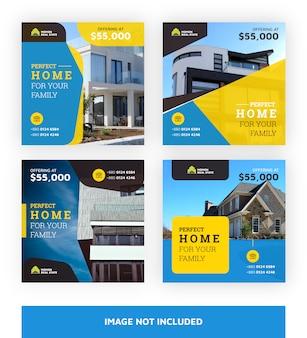 Modèle de bannières immobilières