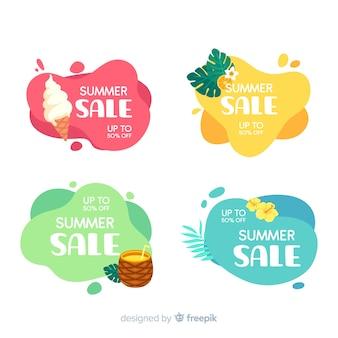 Modèle de bannières liquides de vente d'été