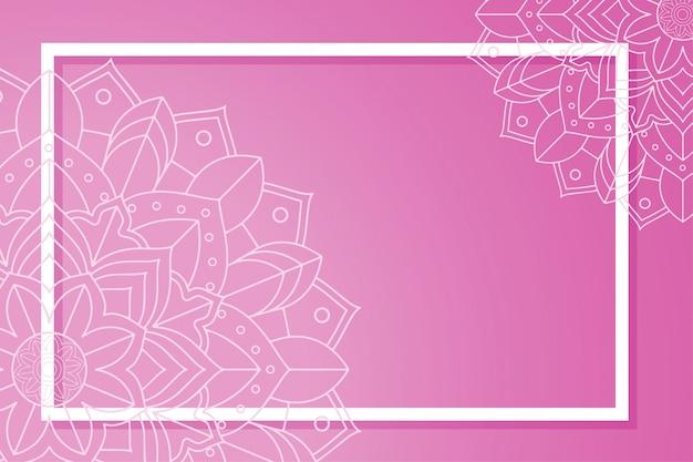 Modèle avec des bannières de mandala