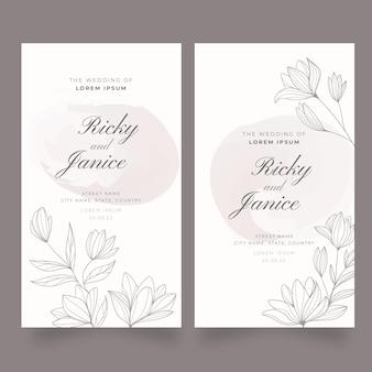 Modèle de bannières de mariage floral