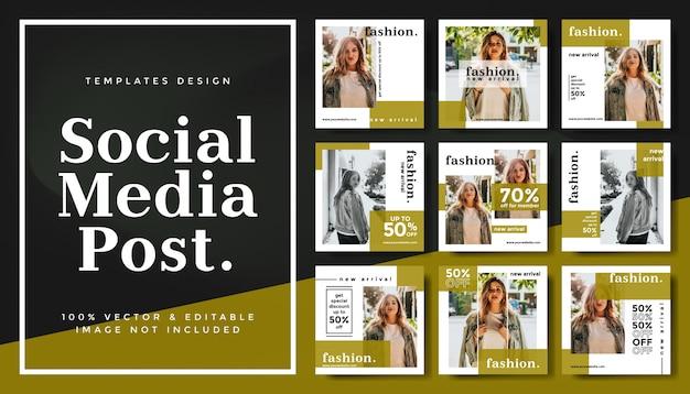 Modèle de bannières modifiables pour les médias sociaux pour la promotion de la mode marketing numérique