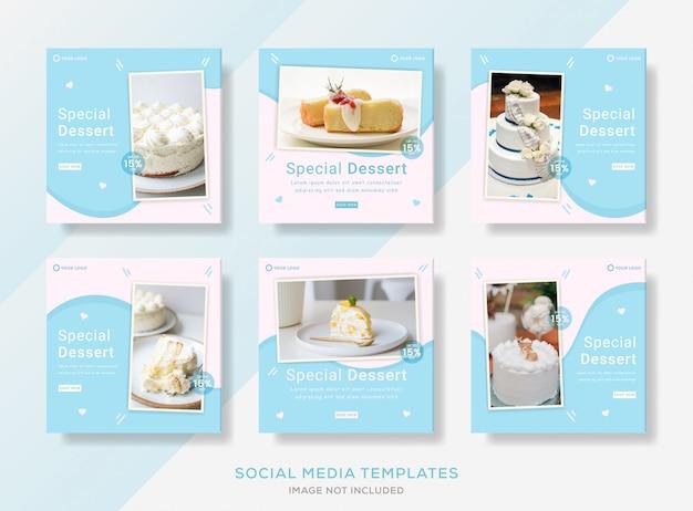 Modèle de bannières de pâtisserie pour publication sur les réseaux sociaux