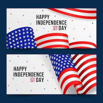 Modèle de bannières pour la fête de l'indépendance