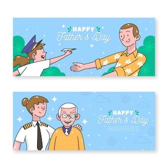 Modèle de bannières pour la fête des pères