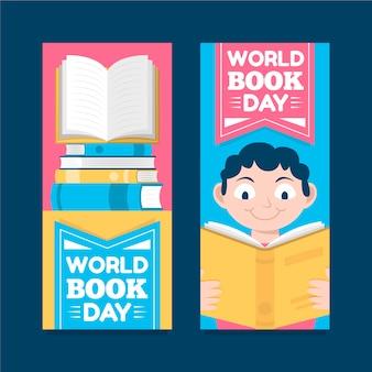 Modèle de bannières pour la journée mondiale du livre