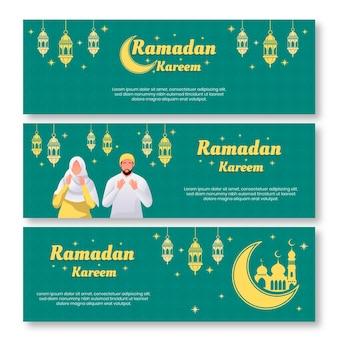 Modèle de bannières de ramadan