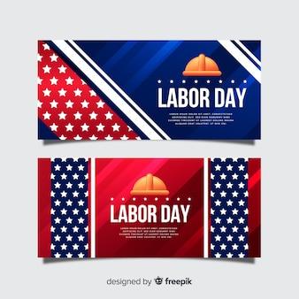 Modèle de bannières réaliste de la fête du travail