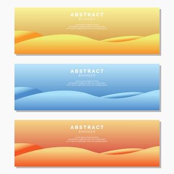 Modèle de bannières vague abstraite
