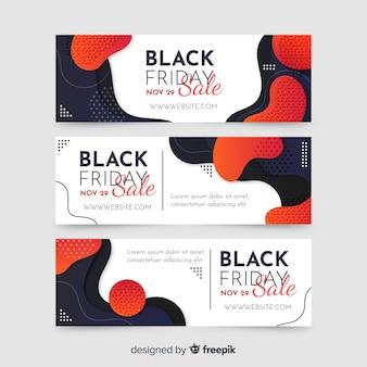 Modèle de bannières vendredi noir dégradé