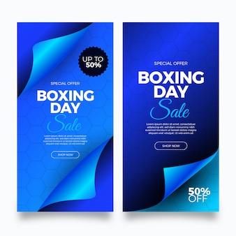 Modèle de bannières de vente de boxe réaliste