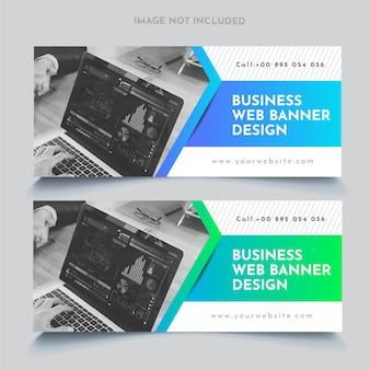Modèle de bannières web d'entreprise